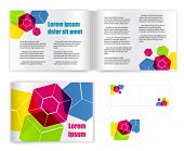 Template vector for print( presentation
