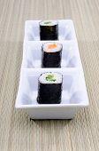 Rolos de sushi