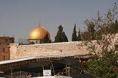 Al-Aqsa Mosque With Wall
