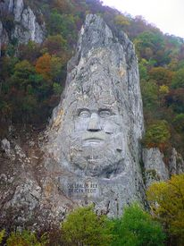 stock photo of decebal  - king head - JPG