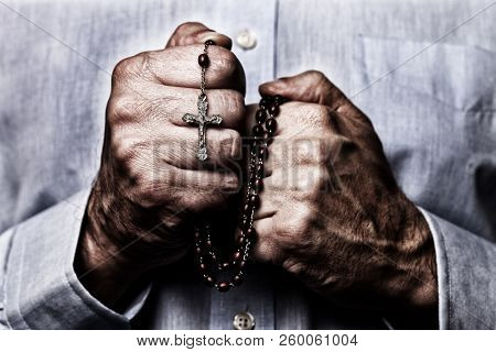 African American male hands praying