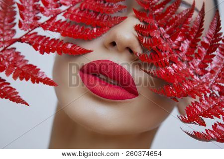 A Woman With Sensual Red