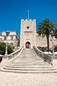 Gate tower Big Revelin in Korcula, Croatia