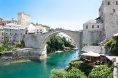 Old bridge on river Neretva - Mostar, Bosnia and Herzegovina
