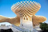 SEVILLA,SPAIN -SEPTEMBER 14: Metropol Parasol in Plaza de la Encarnacion on September 14, 2011 in Se