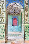 Beautyful mosaic walls of Golestan  palace, Tehran, Iran