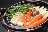 crab nabemono , japanese steamboat dish