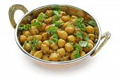 chana masala , chickpea curry ,  indian dish