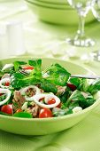 Healthy food, salad with tunny and vegetable