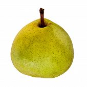 Yellow Pear, Over White