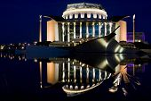 Hungarian national theater at night