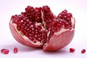 Pomegranate looks like a broken heart