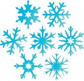 Copos de nieve de Vector