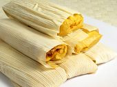 pic of native american ethnicity  - Tamales are a popular traditional food in both Native American and Latin American cultures often eaten around Christmas - JPG