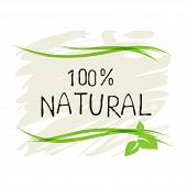 Natural Product 100 Bio Healthy Organic Label And High Quality Product Badges. Eco, 100 Bio And Natu poster