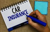 Word Writing Text Car Insurance. Business Concept For Accidents Coverage Comprehensive Policy Motor  poster