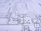engineering plans close -up