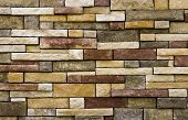 image of fieldstone-wall  - Stone wall facade texture background for landscaping or construction - JPG