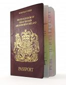 isolated british passport