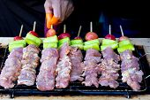 Grilled Pork Barbecue Delicious In Street Food, Barbecue On The Grill poster