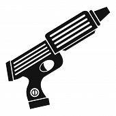 Plastic Gun Toy Icon. Simple Illustration Of Plastic Gun Toy Icon For Web poster