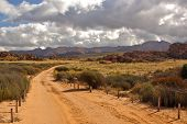 Sandy Desert Road In South Africa