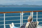 Cruise Passenger Relaxing