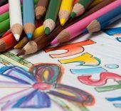 pencils and chrismass cards