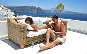 Summer relaxation - honeymoon couple