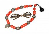 picture of tantric  - Antique Tibetan necklace and Vajra  - JPG