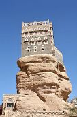 Old Yemeni building  - Imam palace in Wadi Dhar