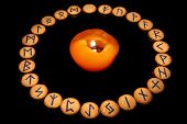 Runes With Candle