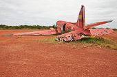 stock photo of canaima  - Old crashed plane in Canaima national park - JPG