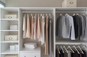 Modern Closet With Clothes poster