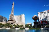 LAS VEGAS - MAR 4: Paris Las Vegas hotel and Casino featured with the theme of Paris in France on Ma