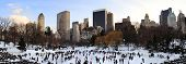 NEW YORK CITY, NY - JAN 1: Central Park Ice Rink on January 1, 2011 in Manhattan, New York City.Cent