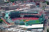 BOSTON, MA - JUN 19: Fenway Park aerial view on June 19, 2011 in Boston, Massachusetts. Fenway Park