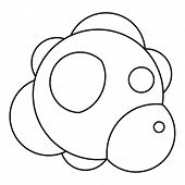 Molecule Icon. Outline Illustration Of Molecule Icon For Web poster