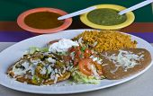 foto of loco  - Healthy mexican meal - JPG