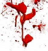 Dripping blood splatters