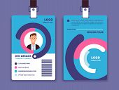 Corporate Id Card. Professional Employee Identity Badge With Man Avatar. Vector Design Template. Id  poster