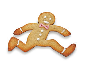 picture of gingerbread man  - Running away - JPG