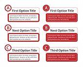 Abc Option Boxes With Version Descriptions