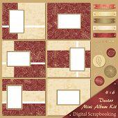 Постер, плакат: Вектор осень мини альбом комплект