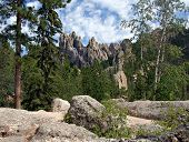 Granite Spires In The Black Hills Of South Dakota