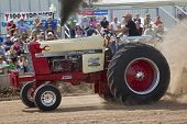 International 1066 Tractor And Smoke