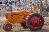 Orange Minneapolis Moline Tractor