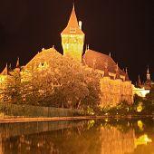 Budapest By Night,  Beautiful  Vajdahunyad Castle , Hungary
