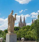 Statue Of Jeronimo De Perigord, Burgos. Spain