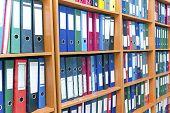 File Folders, Standing On The Shelves